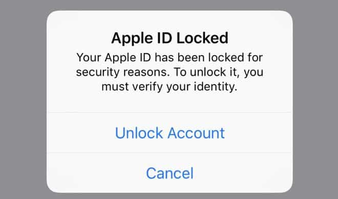 باز کردن اپل آیدی قفل شده