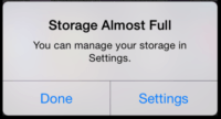Storage Almost full