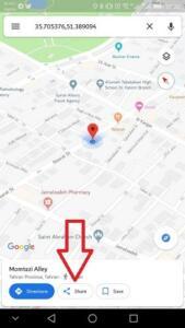 چگونه با گوگل مپ موقعیت مکانی خود را برای دیگران بفرستیم؟ آموزش ارسال لوکیشن در گوگل مپ